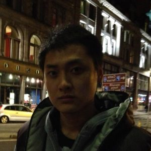 Profile picture of Wenshuo Tang on a night time street in Edinburgh